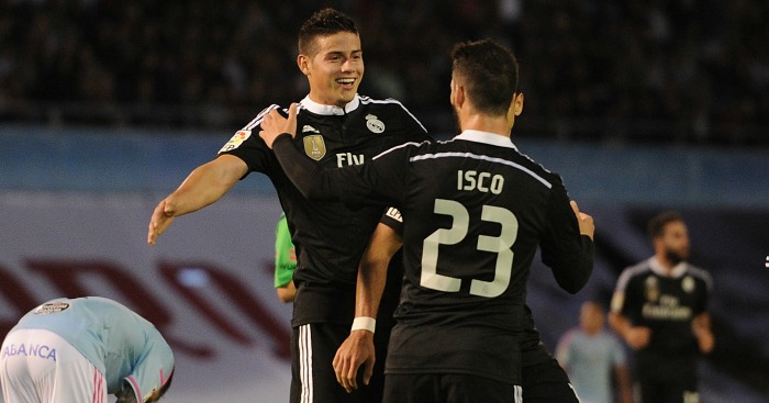 James Rodriguez and Isco: Could be sold in the summer