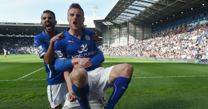 Riyad Mahrez & Jamie Vardy: Named in PFA Team of the Year