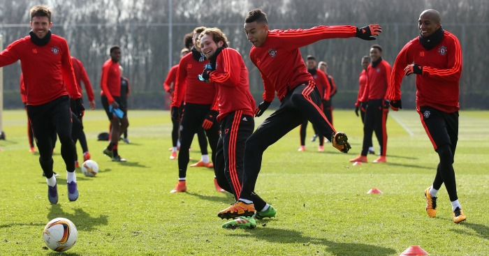 Manchester United: In training on Wednesday