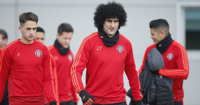 Marouane Fellaini: Praised by Louis van Gaal ahead of Liverpool game