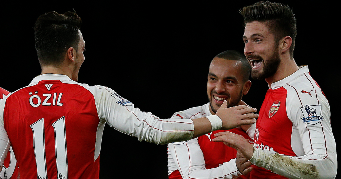 Olivier Giroud: Has been set up six times by Mesut Ozil
