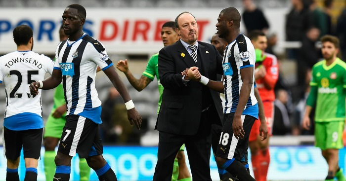 Rafael Benitez: Congratulates his players at full time