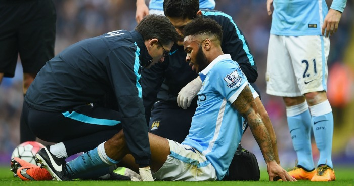 Raheem Sterling: Suffered calf injury in Manchester City's defeat