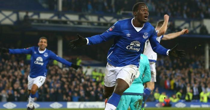 Romelu Lukaku: Celebrates Everton's opener