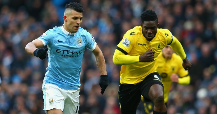 Sergio Aguero: Takes the ball away from Micah Richards