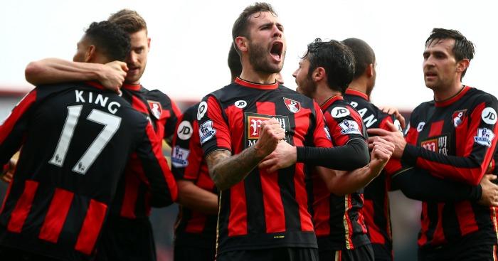 Steve Cook: Celebrates Bournemouth's winner
