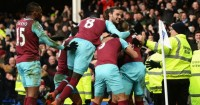 Dimitri Payet: Mobbed after dramatic late winner