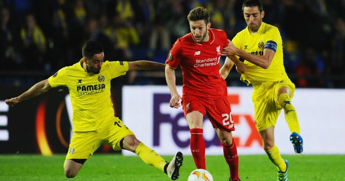 Adam Lallana: Midfielder attempts to break away from defence
