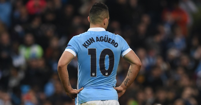 Sergio Aguero: Missed the target from the penalty spot