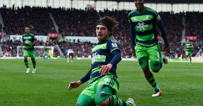 Alberto Paloschi: Enjoys Swansea's equaliser at Stoke