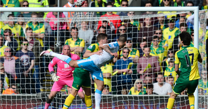 Aleksandar Mitrovic scores Newcastle v Norwich