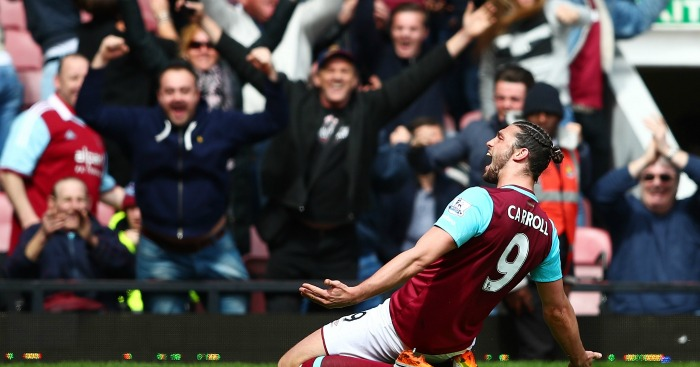 Andy Carroll: Striker starred with hat-trick against Arsenal