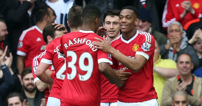 Anthony Martial: Celebrates his goal against Everton