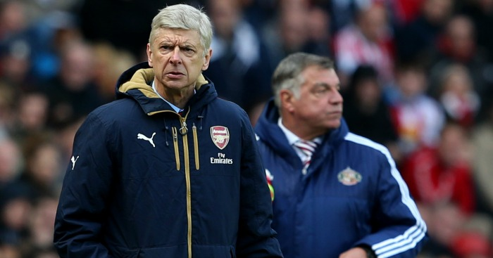Arsene Wenger: Watches on at Sunderland