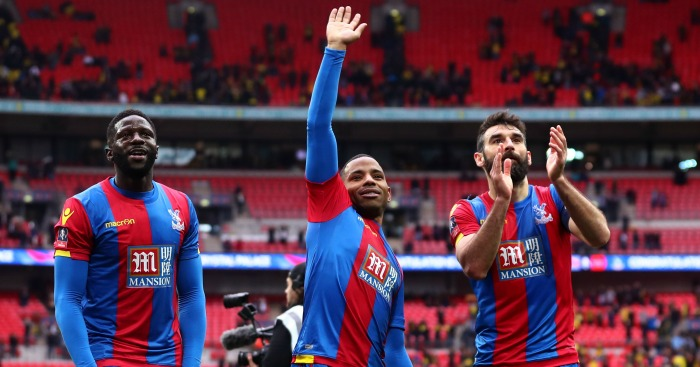 Jason Puncheon: Leads Crystal Palace celebrations after win over Watford