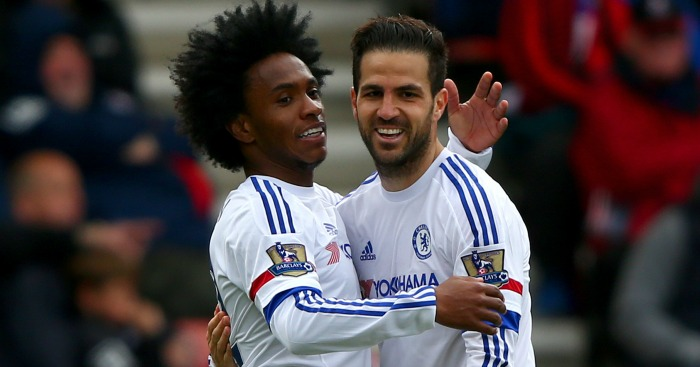 Cesc Fabregas Willian Chelsea