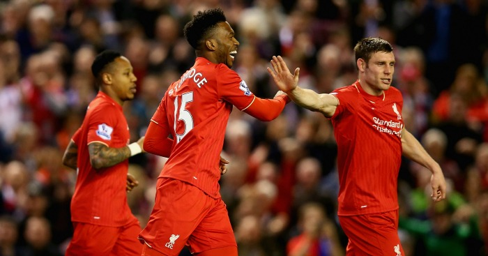 Daniel Sturridge James Milner Liverpool celebration