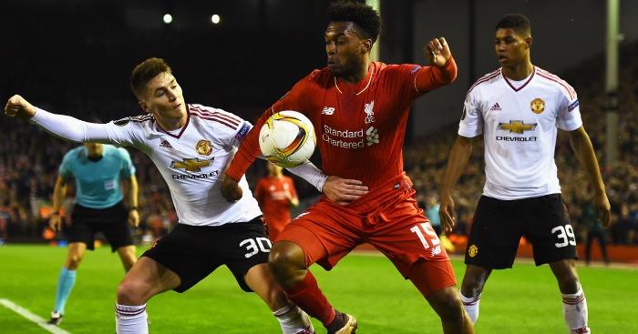 Daniel Sturridge Liverpool v Manchester United