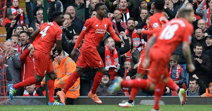 Divock Origi: Striker celebrates his first goal