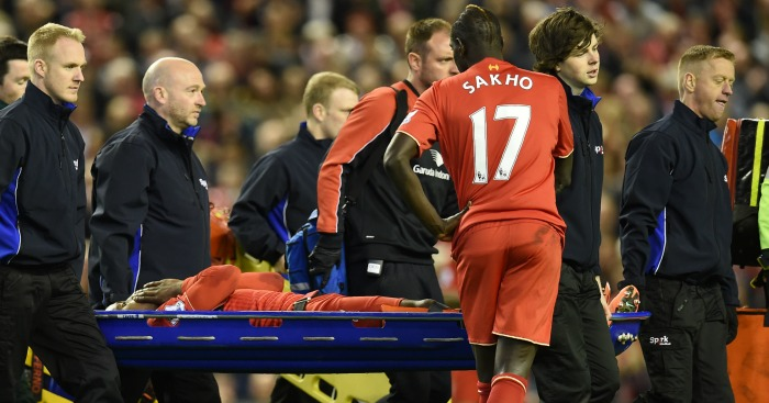 Divock Origi: Stretchered off at Anfield