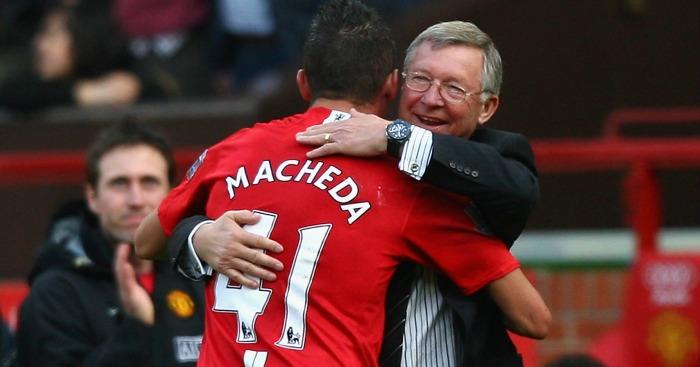 Federico Macheda Alex Ferguson Manchester United v Aston Villa 2009