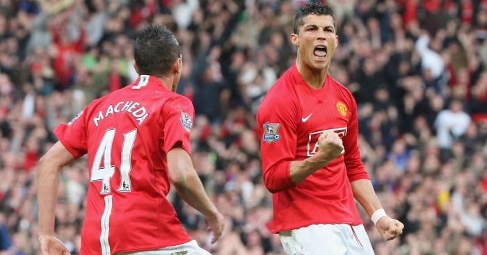 Federico Macheda Cristiano Ronaldo Manchester United v Aston Villa 2009