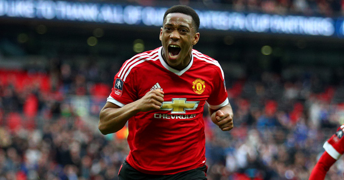Anthony Martial: Injured in warm-up