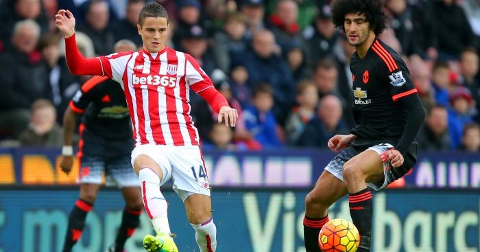 Ibrahim Afellay Stoke v Manchester United