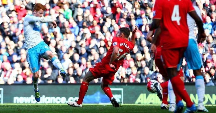 Jack Colback scores Liverpool v Newcastle