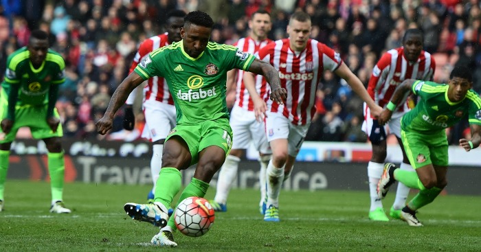Jermain Defoe on April 30, 2016 in Stoke on Trent, England.
