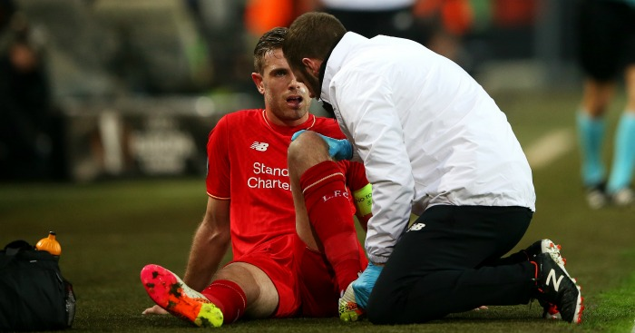 Jordan Henderson injured Dortmund