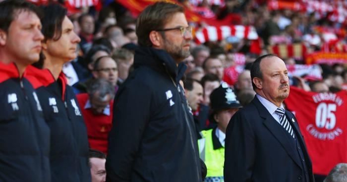 Jurgen Klopp Rafael Benitez Liverpool v Newcastle