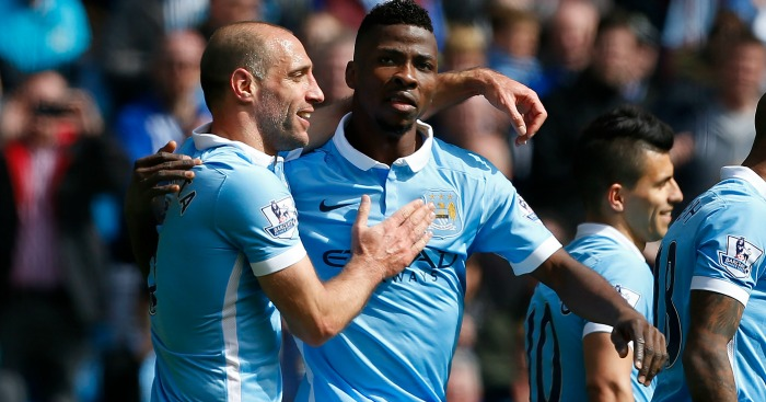Kelechi Iheanacho: Celebrates one of his two goals
