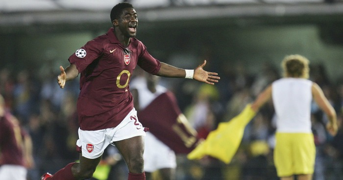 Kolo Toure: Celebrates against Villarreal in 2006