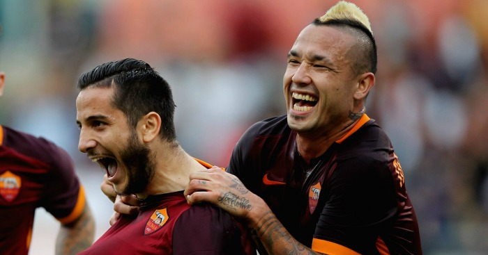 Kostas Manolas and Radja Nainngolan: Linked to Chelsea