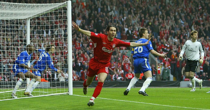 Luis Garcia: Nets his famous 'ghost goal' v Chelsea