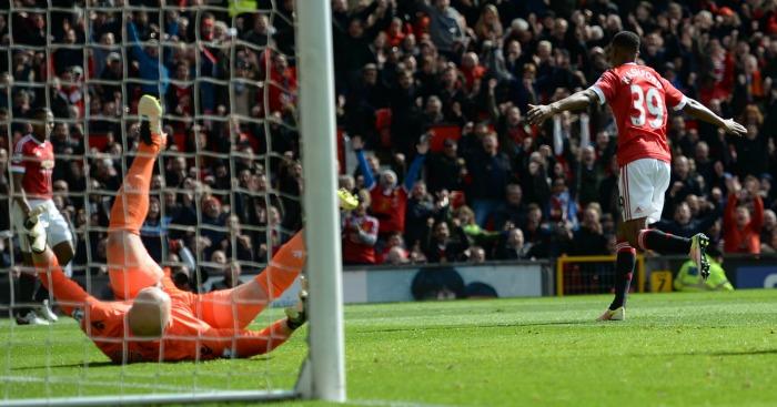 Marcus Rashford celebrates Manchester United v Aston Villa