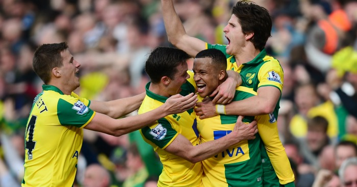 Martin Olsson: Celebrates his late winner to crush Newcastle