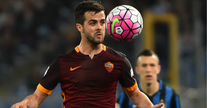 V=Miralem Pjanic: Midfielder has starred for Roma this term