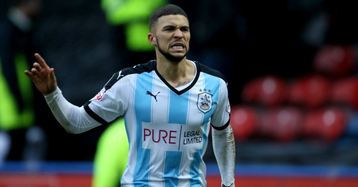Huddersfield Town's Nahki Wells celebrates his goal