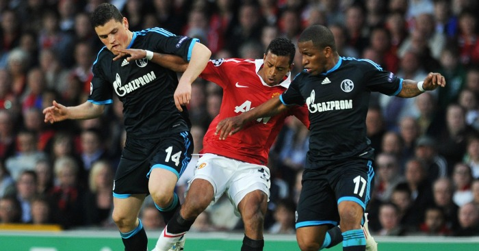 Nani: Takes on the Schalke defence in 2011