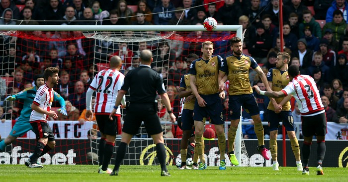 Patrick van Aanholt free-kick Arsenal