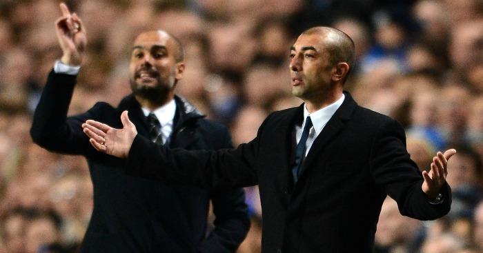 Roberto Di Matteo Pep Guardiolla Chelsea v Barcelona 2012
