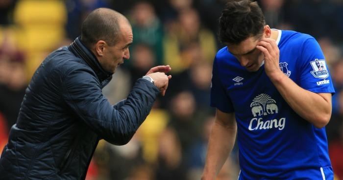 Roberto Martinez Gareth Barry Everton
