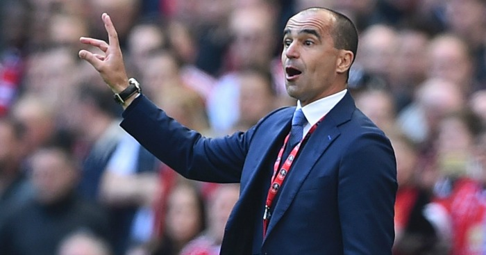 Roberto Martinez: Watches the action at Wembley