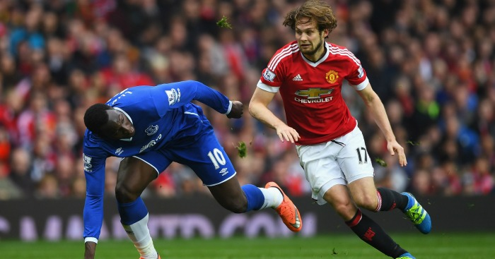 Romelu Lukaku: Handled well by Daley Blind