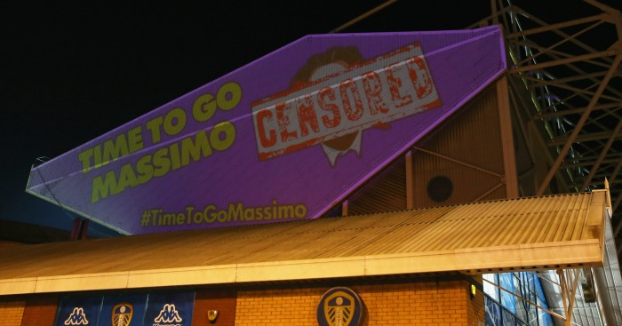 Time to go Massimo: Fans' protest against owner