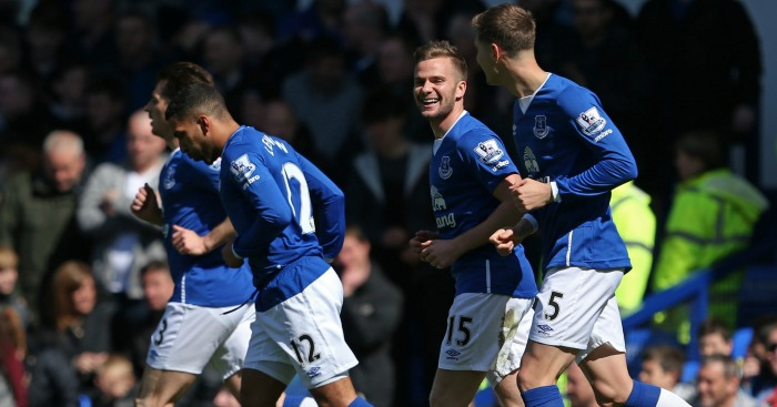 Tom Cleverley: All smiles after Everton's opener