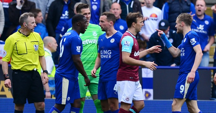Jamie Vardy: Saw red against West Ham