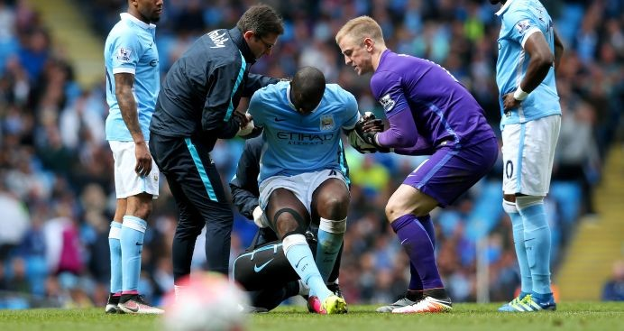 Yaya Toure: Suffered injury against Stoke